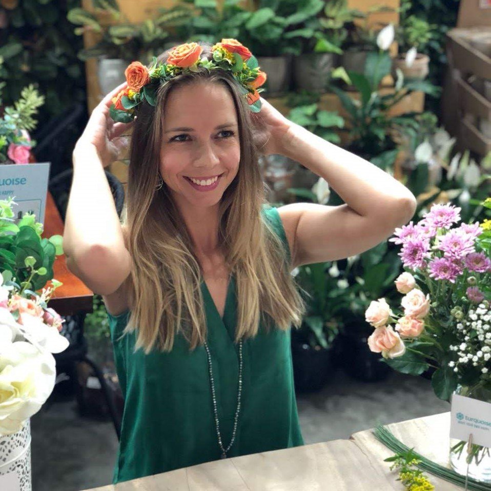 Flower crown diy kit turquoise boutique studio your diy destination flower crowns are a lovely way to express your creativity and make something beautiful that you can wear izmirmasajfo